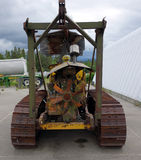 An old, retired tractor on display at whitehorse Stock Photography