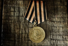 Old retro aged photo effect medal of great patriotic war Royalty Free Stock Image