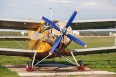 Old retro airplane Stock Image