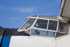 Old retro airplane. Out of service Royalty Free Stock Photography