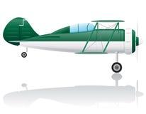 Old retro airplane vector illustration Stock Photos