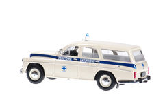 Old retro ambulance. Old retro ambulance on white background Stock Images