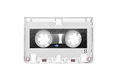 Old retro audio tape cassette Royalty Free Stock Images