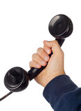 Old retro bakelite telephone Stock Photo