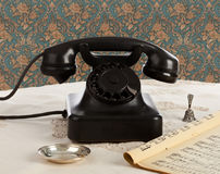 Old retro bakelite telephone Royalty Free Stock Images