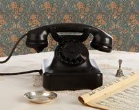 Old retro bakelite telephone royalty free stock images