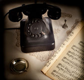 Old retro bakelite telephone Royalty Free Stock Photos