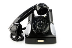Old retro bakelite telephone. Royalty Free Stock Photography