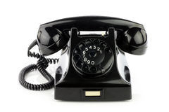 Old retro bakelite telephone. Royalty Free Stock Image