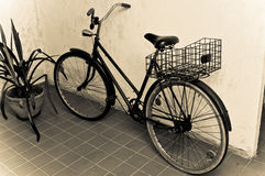 Old retro bicycle Stock Image