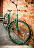 Old retro bicycle Stock Photo