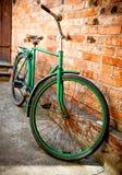 Old retro bicycle stock photo