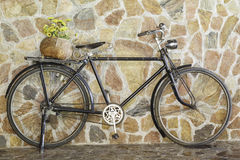Old retro bicycle Stock Images