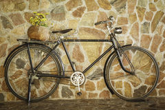 Old retro bicycle Stock Image