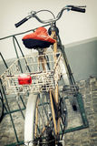 Old retro bicycle Stock Photography