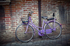 Old retro bicycle in Italy Stock Photos