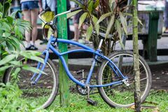 Bicycle in costa rica used for traveling on weekends Stock Images