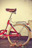 Old retro bicycle. Vintage style. Stock Image