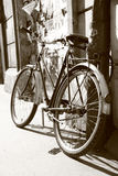 Old retro bike. In Krakow Royalty Free Stock Photos