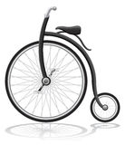 Old retro bike vector illustration Royalty Free Stock Photo