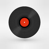 Old, retro black record, LP, eps10 vector art Royalty Free Stock Photo