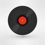 Old, retro black record, LP, eps10 vector art Royalty Free Stock Photo
