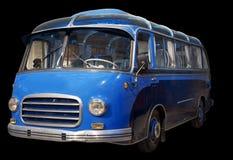 Old retro blue bus. Stock Photo