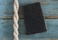 Old retro book with rope Stock Photography