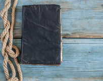 Old retro book with rope Royalty Free Stock Photos