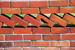 Old Retro Brick Wall Fence Royalty Free Stock Image