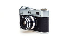 Old retro camera isolated on white Royalty Free Stock Photos