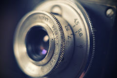 Old retro camera lens Stock Photos