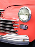 Old retro car on exhibition. 40s 50s 60s vintage style time generation rarity fashion Stock Photography