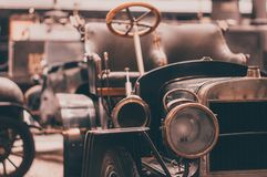 Free Old Retro Car Front View On The Headlights And Grille Royalty Free Stock Photos - 138605278
