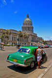 Old  retro car in Havana,Cuba Stock Photo