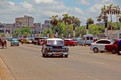 Old  retro car in Havana,Cuba Royalty Free Stock Image