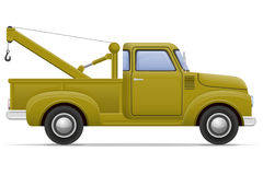 Old retro car pickup vector illustration Stock Photography