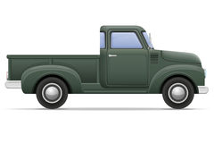 Old retro car pickup vector illustration Stock Images