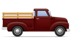 Old retro car pickup vector illustration Royalty Free Stock Photos