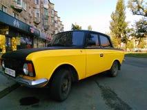 old retro car on the street of the city of Kiev, Ukraine Royalty Free Stock Photo