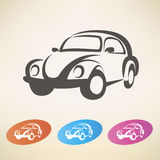 Old retro car  symbol Stock Photo