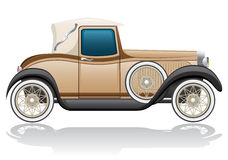 Old retro car vector illustration Royalty Free Stock Images