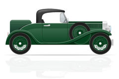 Old retro car vector illustration Stock Photos