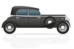 Old retro car vector illustration Royalty Free Stock Photos