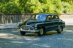 Old retro car  VOLVO AMAZON 121 taking participation in race Leo Stock Images
