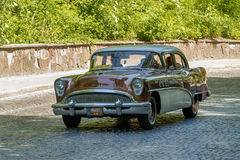 Lviv, Ukraine - June 4, 2017:Old retro car Buick Special taking participation in race Leopolis grand prix 2017, Ukraine. Royalty Free Stock Photography