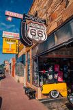 Route 66 Williams town near the Grand Canyon. stock photos