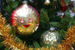 Old retro Christmas decorations Stock Photography