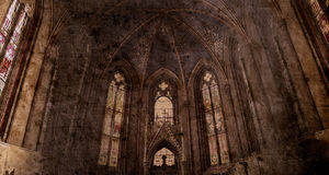 Old retro church Royalty Free Stock Images
