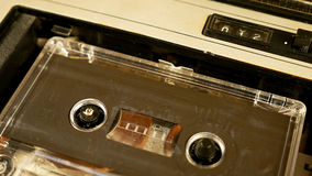 Old retro compact cassette vintage audio recorder Stock Photography